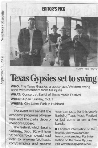 newspaper press on swing band