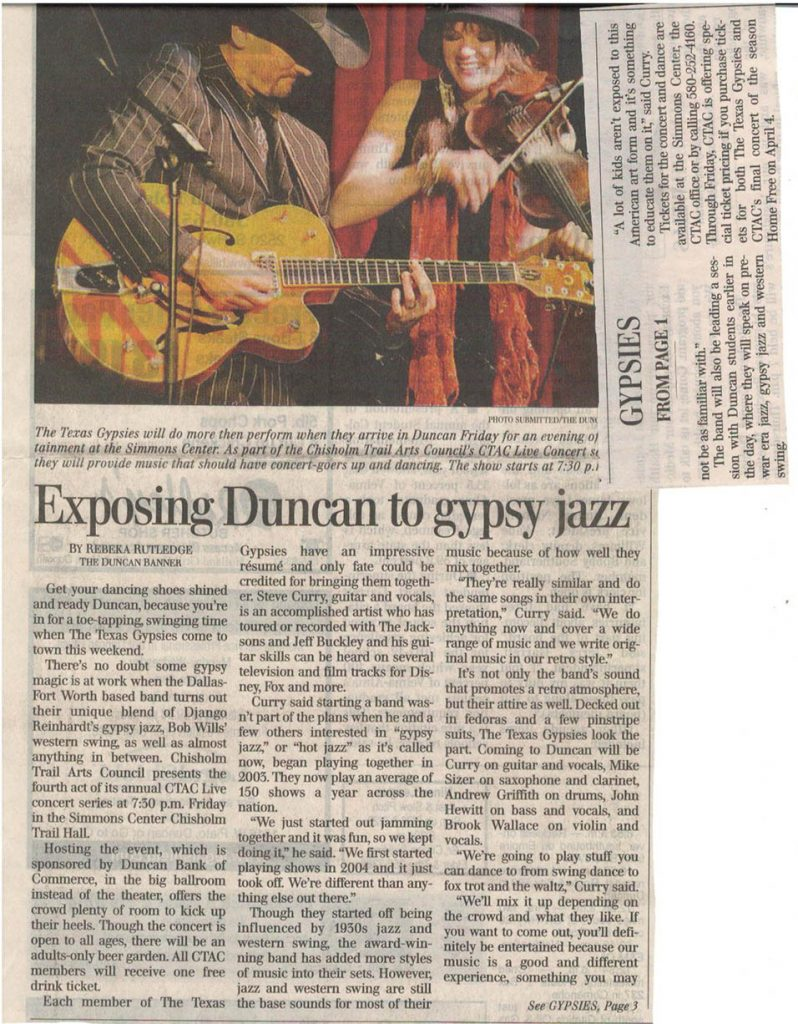 Article on Gypsy Jazz